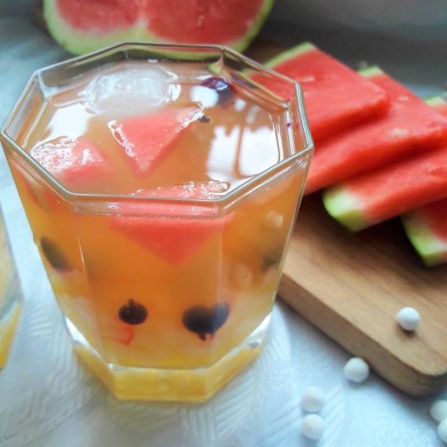 Bubble tea pomarańczowo-arbuzowe z nutą czarnej porzeczki