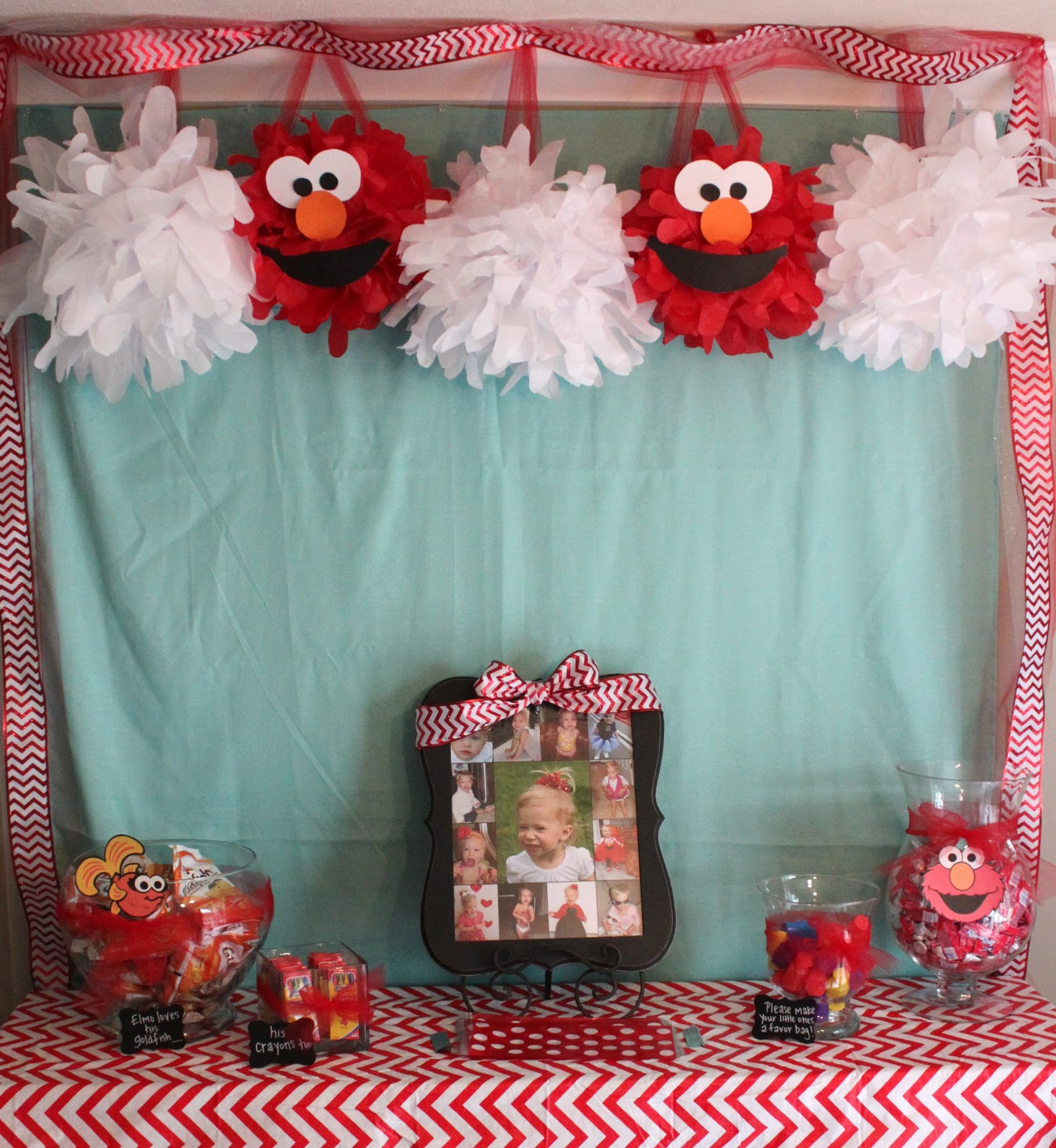 Handmade Happiness: Elmo 2nd Birthday Party