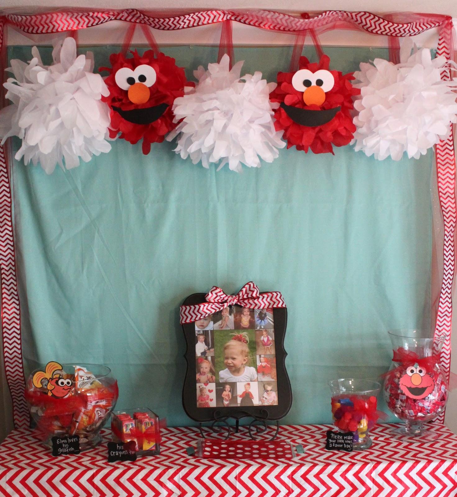 Elmo party decorations ideas elitflat handmade happiness elmo 2nd birthday party filmwisefo