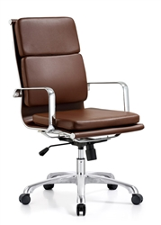 Hendrix High Back Brown Leather Office Chair