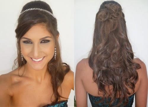 Penteados para formatura cabelos longos com cortes