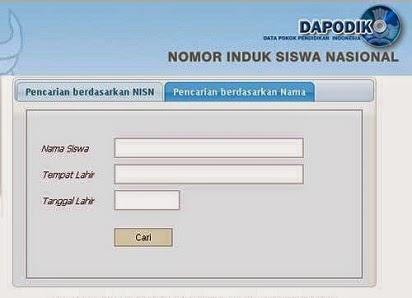Cara Mencari Situs NISN Siswa Sekolah Via Internet