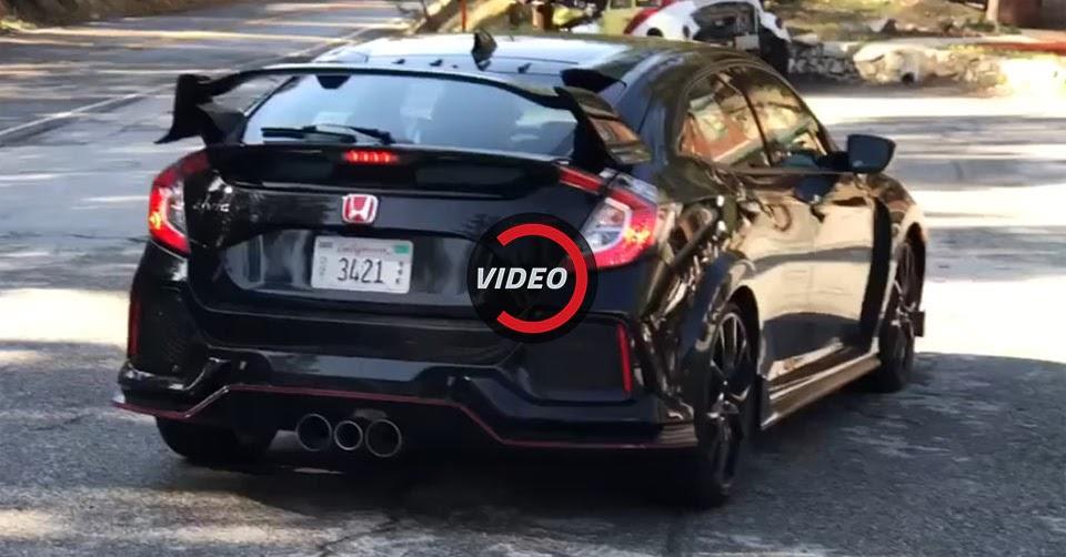 Production spec honda civic type r filmed on u s streets for Reddit honda civic