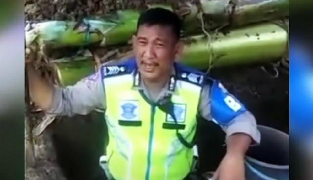 Polisi Ini Viral Usai Sampaikan Pesan Moral di Kuburan: Hentikan Arogansi dan Akal-akalan pada Masyarakat