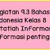 Kegiatan 9.3 Bahasa Indonesia Kelas 8 Catatlah Informasi-Informasi penting