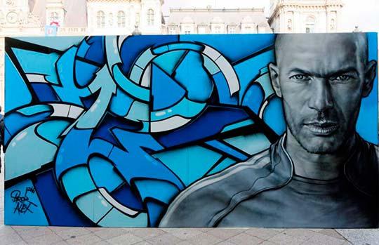 Zinedine Zidane por Alex & Brok (Fotografía de Henri Garat)