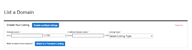 SELL DOMAIN ON GODADDY