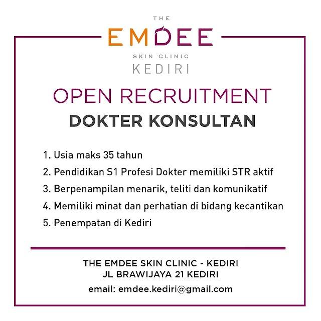 Loker Dokter Konsultan The Emdee Skin Clinic Kediri