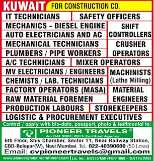 Construction Company required for Kuwait