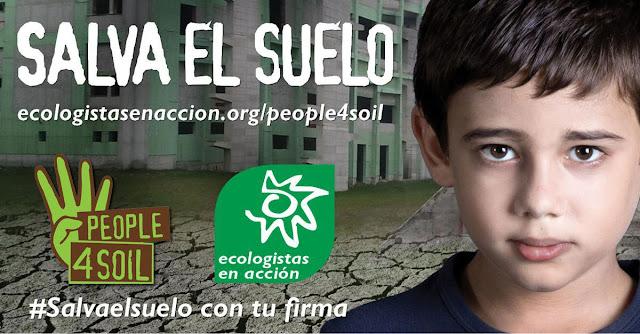 Cartel de la campaña Salva el suelo