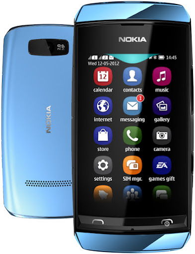 Nokia-Asha-305-Mid Blue
