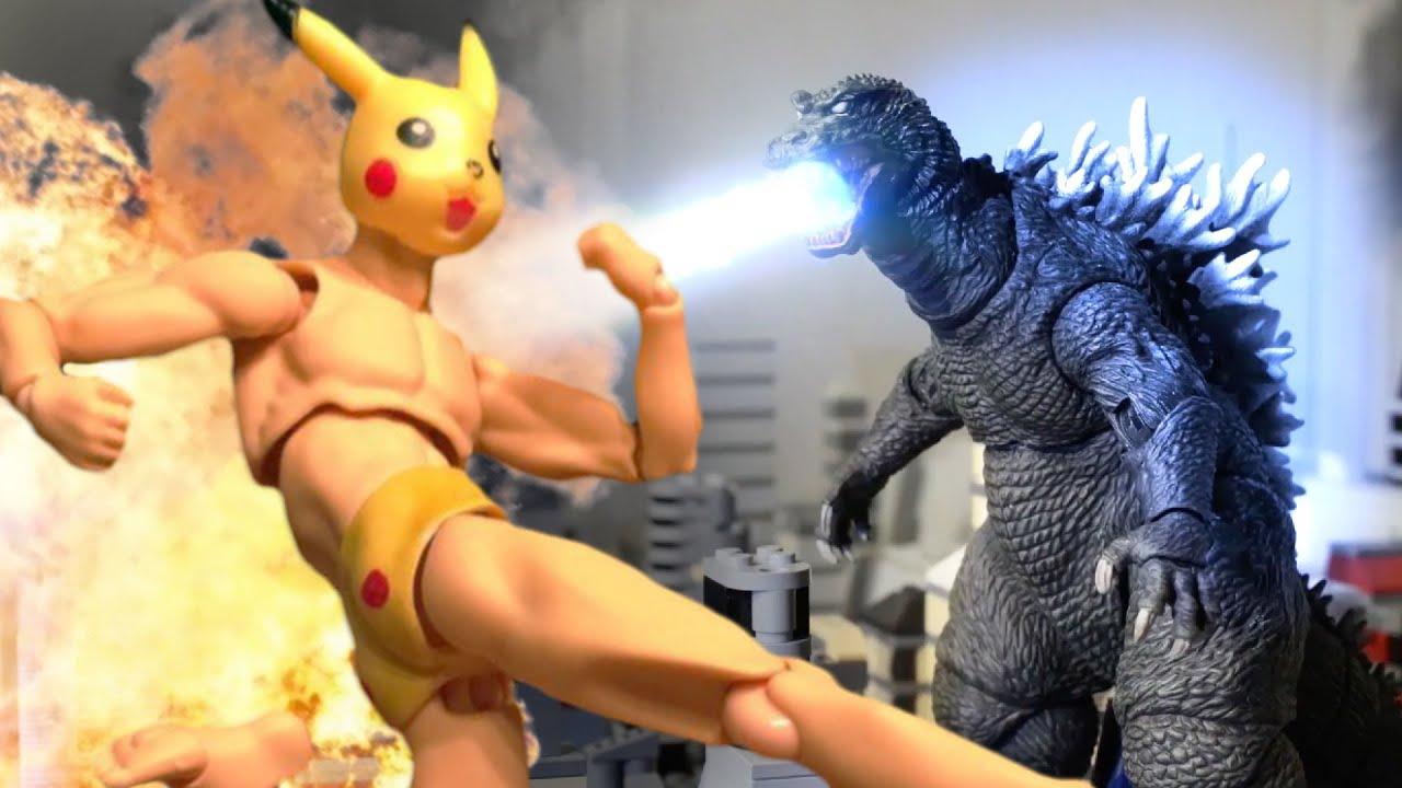Godzillas vs. Pikachu | Uma luta épica em stop motion