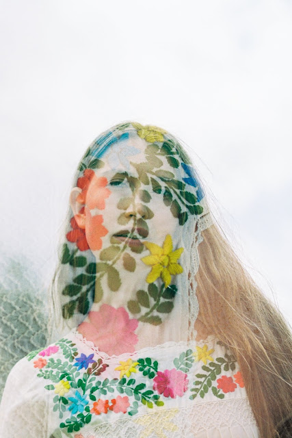 Floral Double Exposure Portrait 35mm
