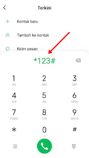 Cek Pulsa Indosat via Dial Up 123