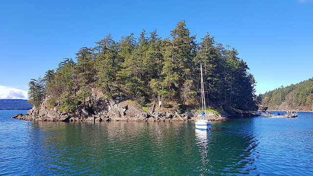 Retreat Island off Galiano Island...