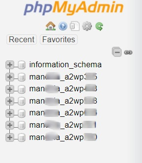 Daftar Database phpMyAdmin