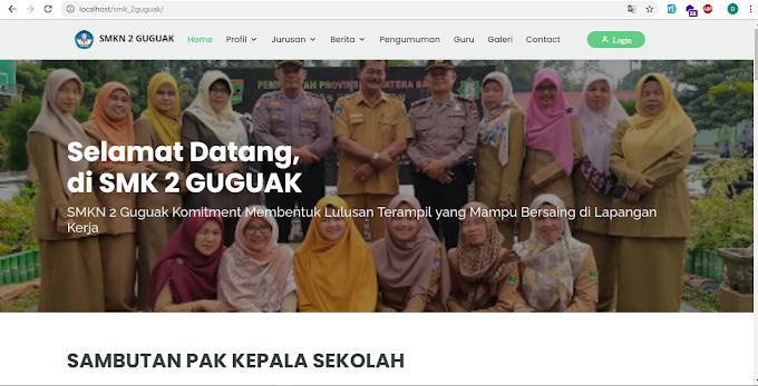 Sistem Informasi Website Sekolah SMK 2 Guguak Responsive