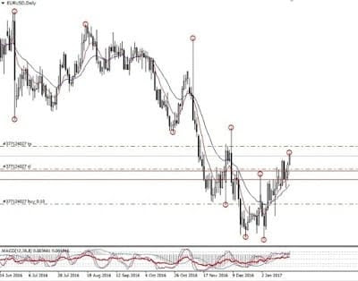 pola bullish divergence; profit eurusd