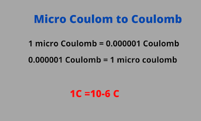 Micro coulomb to  Coulomb