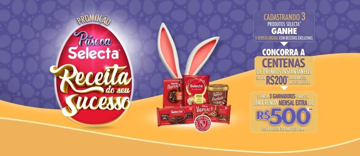 Promoção Selecta Chocolates Receita Seu Sucesso Páscoa
