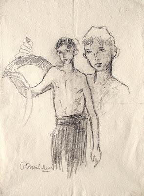 Publio Morbiducci - disegno a carboncino - arte