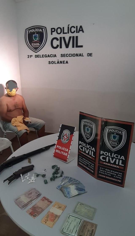 Polícia prende acusados de tráfico de droga e roubos em Casserengue-PB