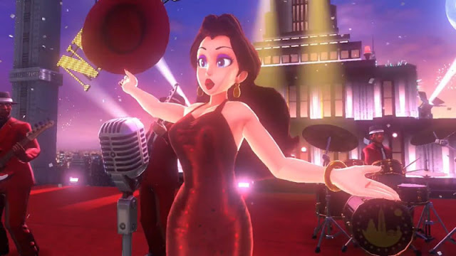 Pauline performing Super Mario Oddessy theme song