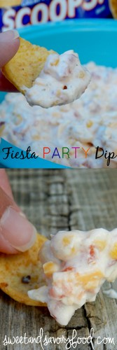 fiesta party dip (sweetandsavoryfood.com)