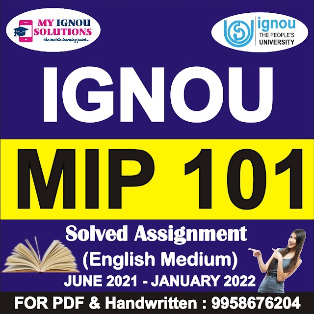MIP 101 Solved Assignment 2021-22