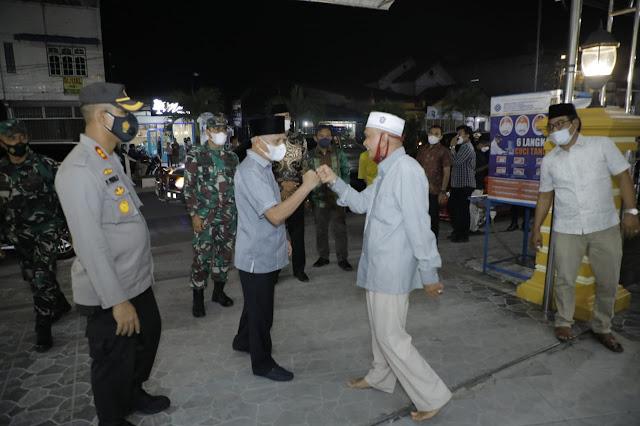 Malam Takbiran Idul Adha, Bupati bersama Forkopimda Asahan Melakukan Patroli