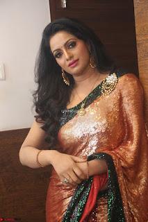 Udaya Bhanu lookssizzling in a Saree Choli at Gautam Nanda music launchi ~ Exclusive Celebrities Galleries 102.JPG