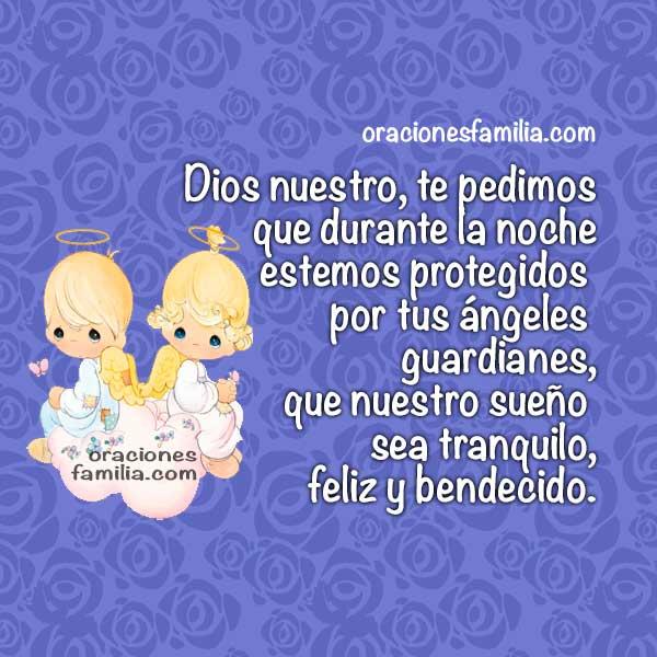 Frases con oraciones para dormir bien, oración de la noche, imágenes de ángeles, protección de Dios al acostarse por Mery Bracho