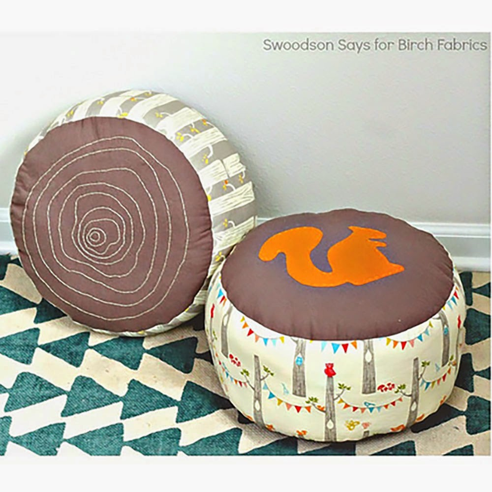 PDF Pattern | Log Slice Pouf