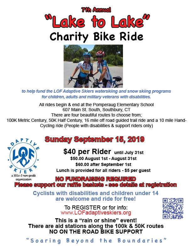 2019 Lake to Lake Charity Ride