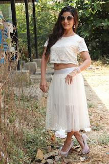 Actress Aqsa Bhatt Stills At Oru Melliya Kodu Movie Audio Launch  0022