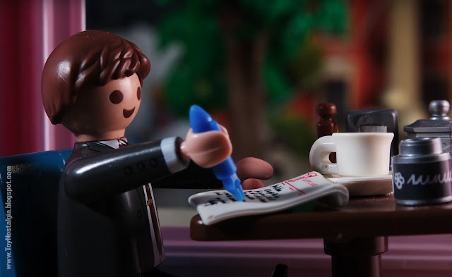 Marty Mc Fly en Lou's Cafe Playmobil Back To The Future - Calendario de Adviento (©Playmobil Geobra Branstätter)