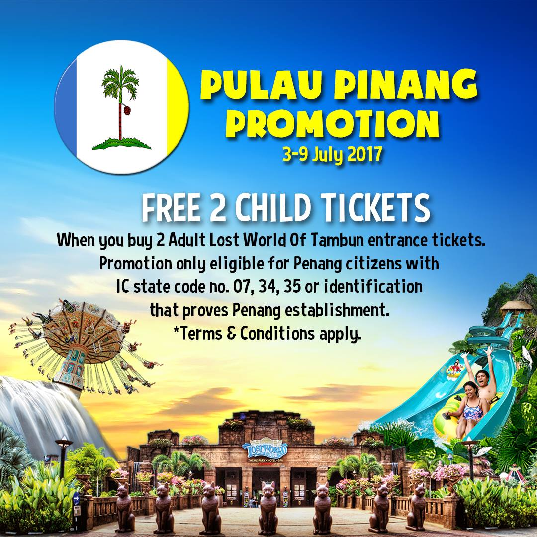 Lost world of tambun buy 2 adult tickets free 2 child tickets lost world of tambun buy 2 adult tickets free 2 child tickets penang citizen only 3 9 july 2017 gumiabroncs Choice Image