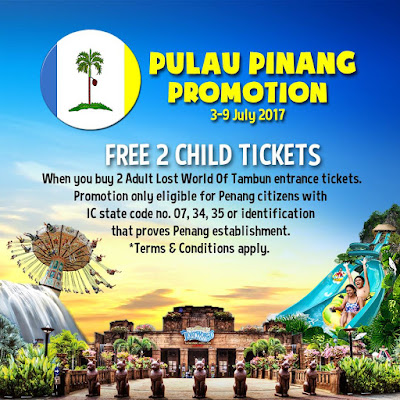 Sunway Lost World Of Tambun Free Entrance Ticket Penangite Promotion