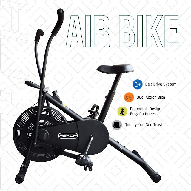 Top Best Three Air Bike India Fitness Excercise Cycle 2020 Sale on Amazon Online