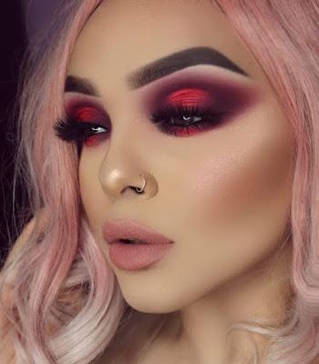 Maquillaje rojo glam