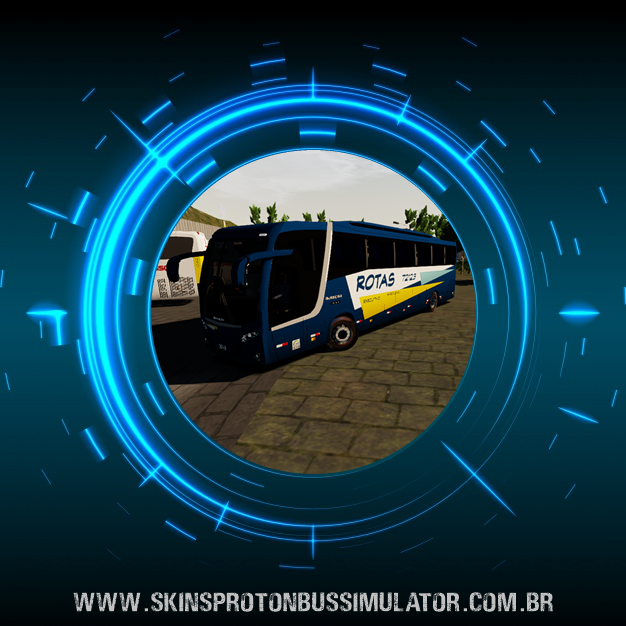 Skin Proton Bus Simulator Road - Busscar Vissta Buss MB O-500 RS BT5 Viação Rotas do Triangulo