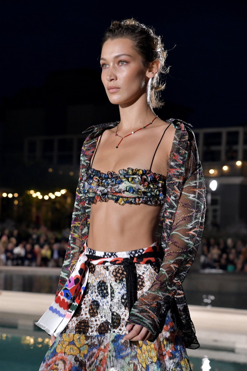 Bella Hadid Bares Her Abs on Missoni Runway