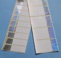 Sicherheitsetiketten für Thermotransferdrucker