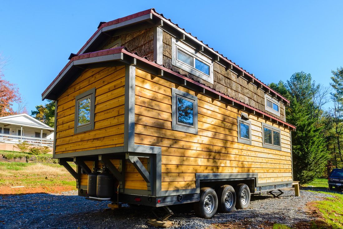 Tiny house town the mh by wishbone tiny homes - The house on four wheels ...