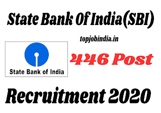 State Bank Of India(SBI) 446 Post Recruitment 2020