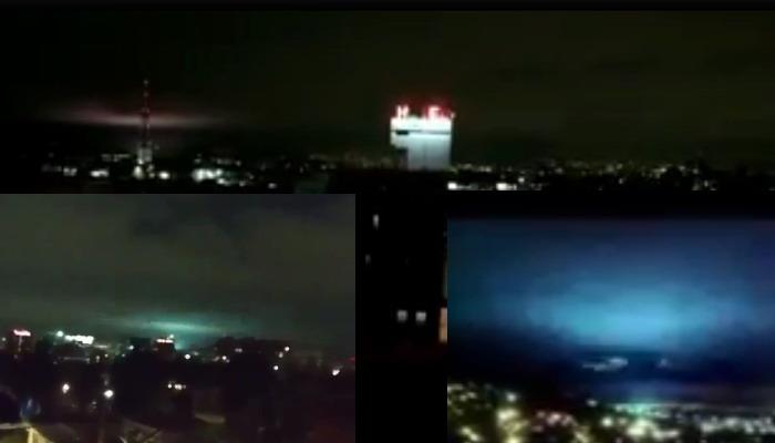 Extrañas luces son observadas en ciudad de México durante el terremoto de magnitud 8,4 que se registro en la costa sur de México.