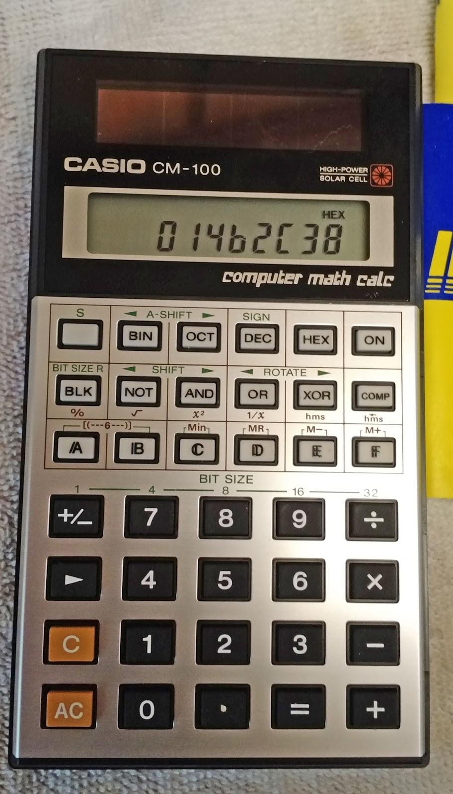 Eddie S Math And Calculator Blog Retro Review Casio Cm