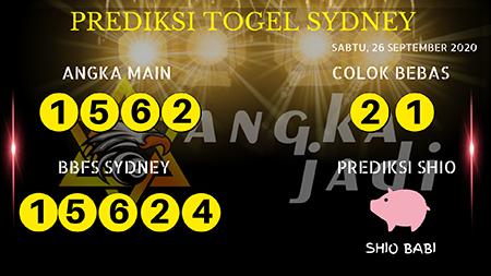 Prediksi Angka Jitu Sydney Sabtu 26 September 2020