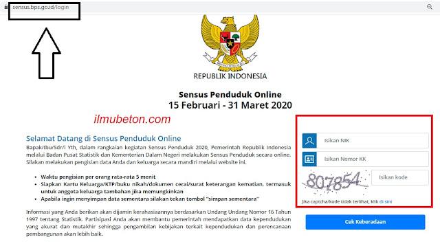 Masuk ke laman sensus.bps.go.id