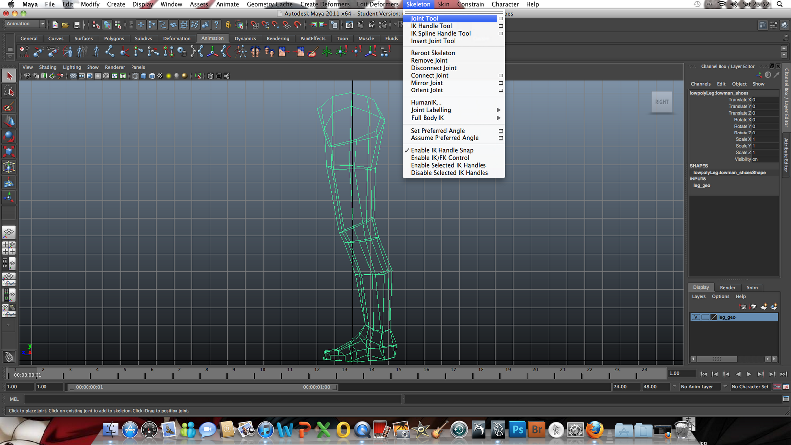Rigging: Using Maya: Rigging Legs